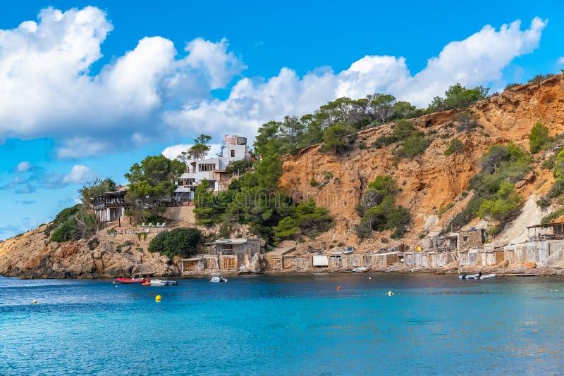 Ibiza, het strand van Sa Caleta royalty-vrije stock afbeelding