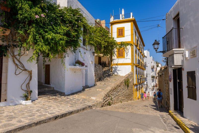 Ibiza, Hiszpania 26 czerwca 2014 r. Szczegóły ulicy zdjęcia stock
