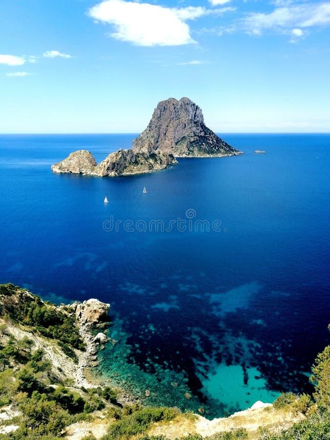 Ibiza, isla de es vedra stock images