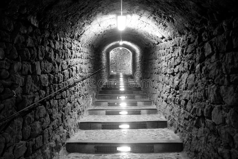 Ibiza Island Tunnel Way Up Royalty Free Stock Photography