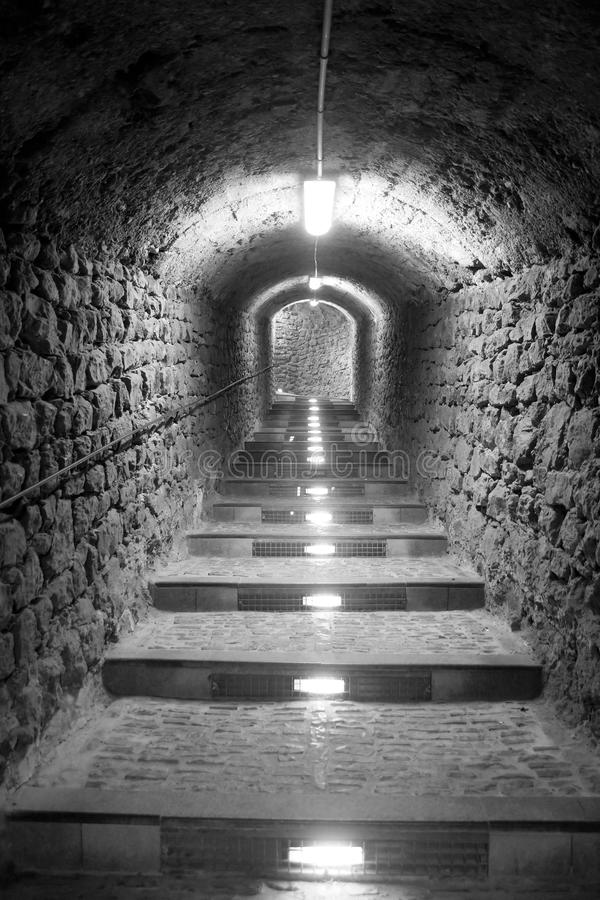 Download Ibiza Island Tunnel Way Up To The Castle Stock Image - Image: 19664363