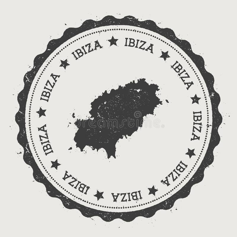 Ibiza klistermärke stock illustrationer