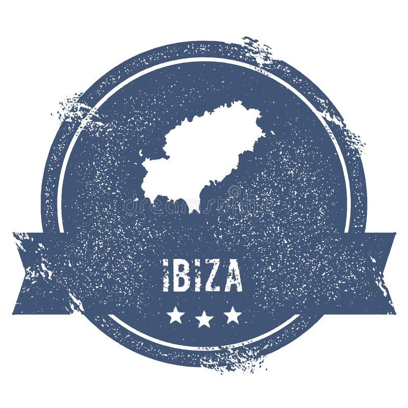 Ibiza logotecken royaltyfri illustrationer