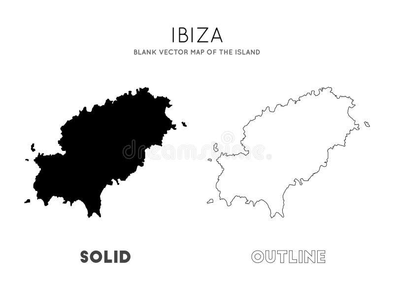 Ibiza mapa royalty ilustracja