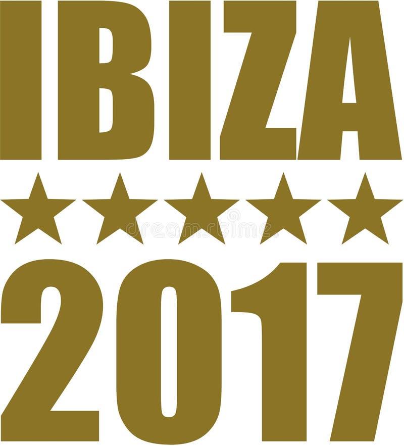 Ibiza 2017 med stjärnor vektor illustrationer