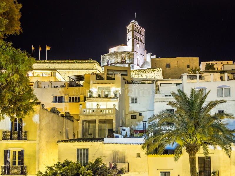 Ibiza na noite foto de stock royalty free