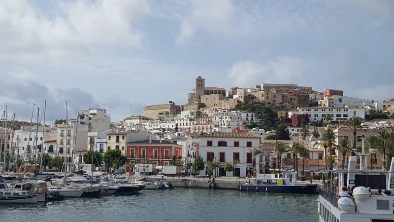 Ibiza port, Spanien royaltyfria foton
