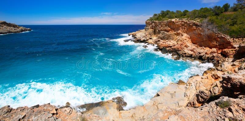 Ibiza Punta DE Sa Galera strand in San Antonio stock foto