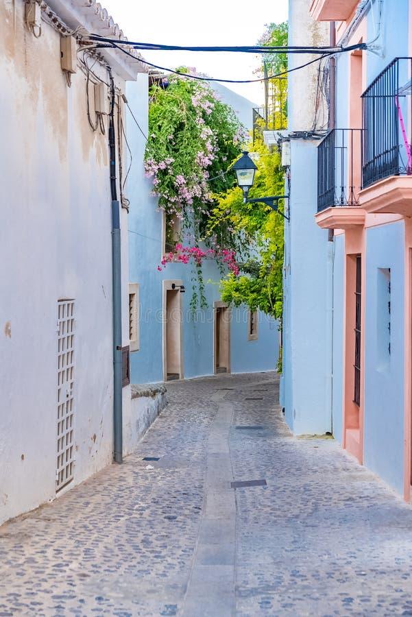 Ibiza, rue d'Eivissa photos stock