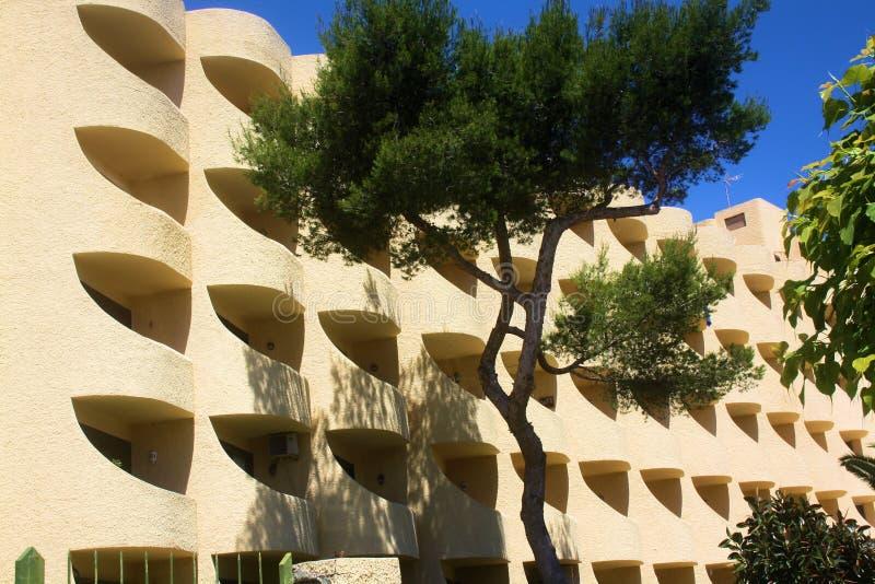 Ibiza-Sandstein-Hotel stockbild