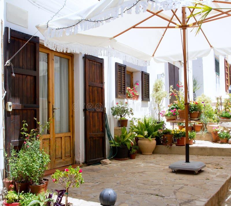 Ibiza Sant Joan Labritja San Juan Weißhäuser lizenzfreie stockfotografie