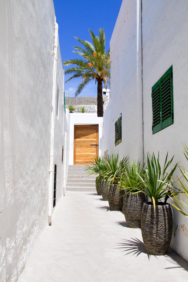 Ibiza Sant Joan Labritja San Juan Weißhäuser stockfotos