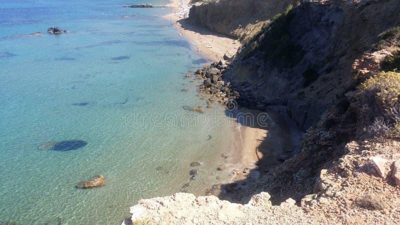 Ibiza - schöner Strand stockfotos