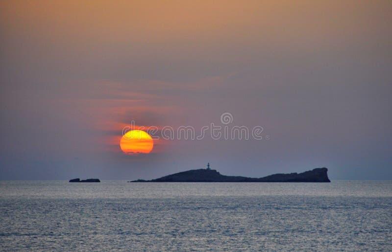 Ibiza Sonnenuntergang stockfotos