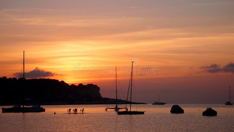 Ibiza-Sonnenuntergang 2 stockfotos
