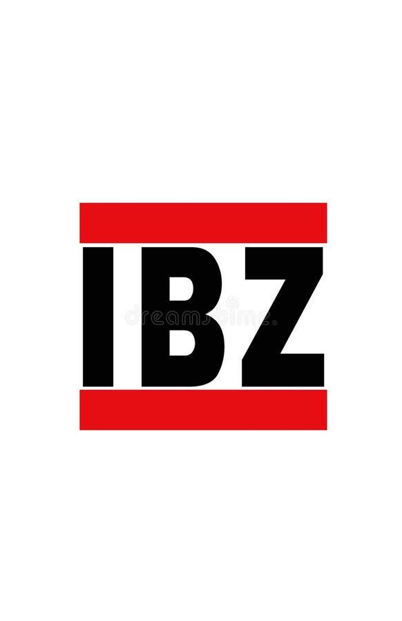 Ibiza Spanien vektor illustrationer