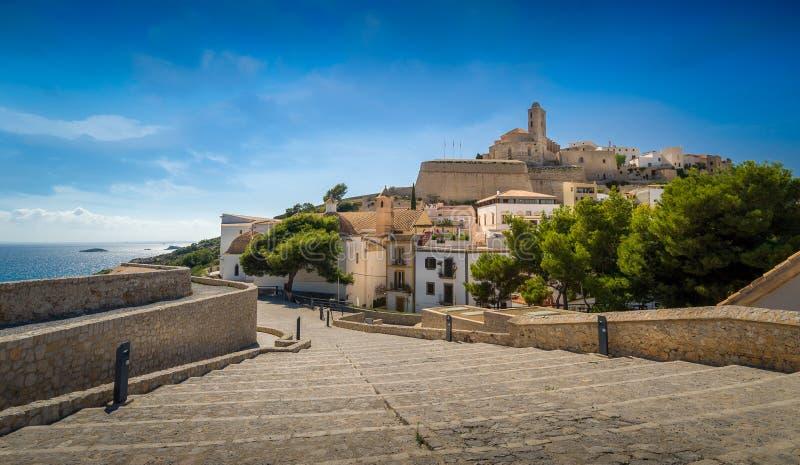 Ibiza stary miasteczko zdjęcia stock