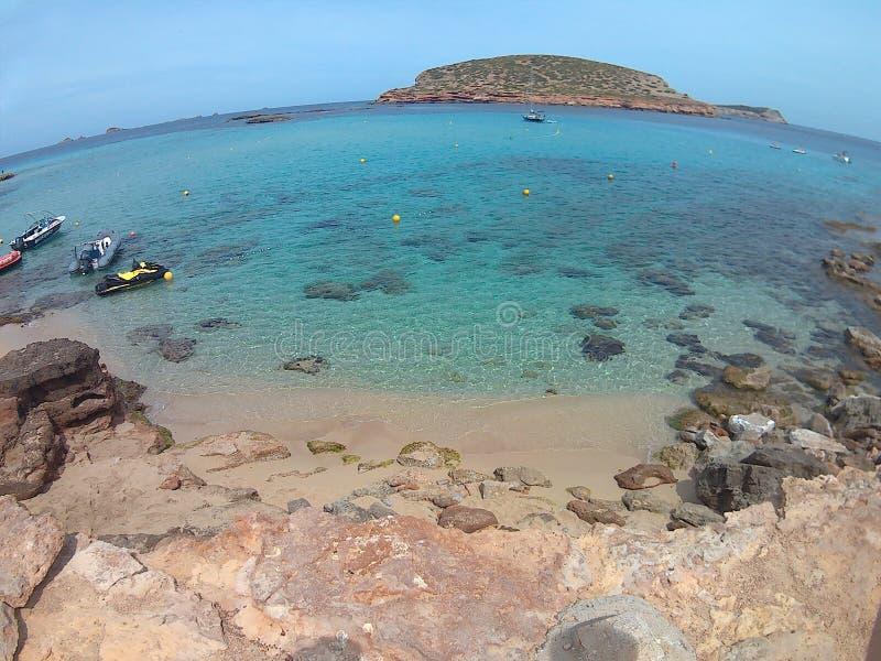 Ibiza-Strand lizenzfreie stockbilder