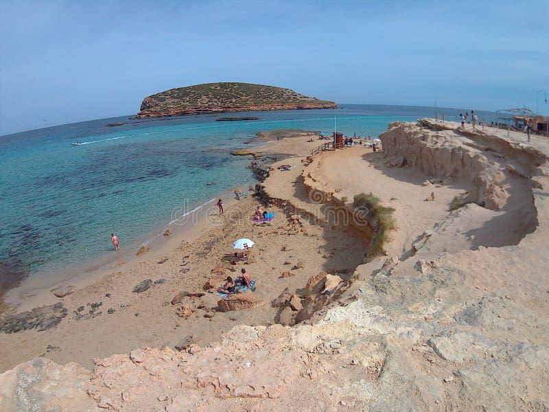Ibiza-Strand lizenzfreie stockfotos