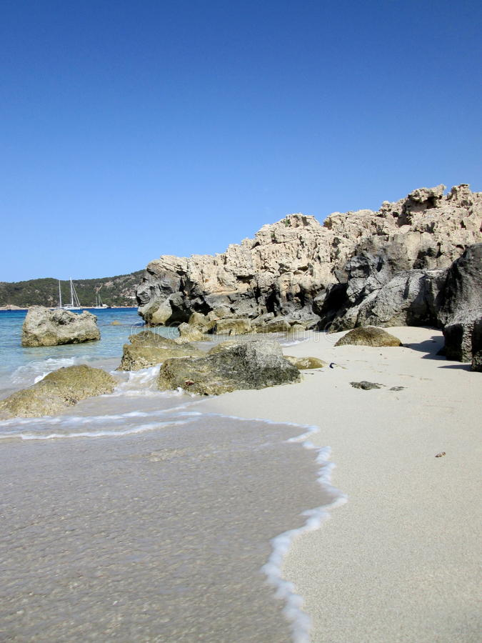 Ibiza-Strandszene stockfotografie