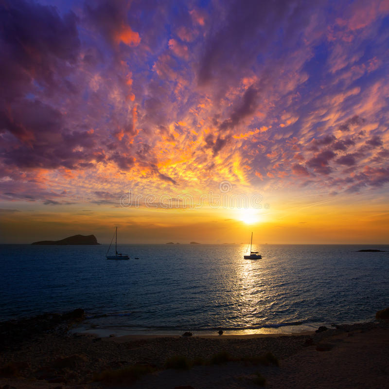Download Ibiza Sunset From Cala Conta Comte In San Jose Stock Image - Image: 34290183
