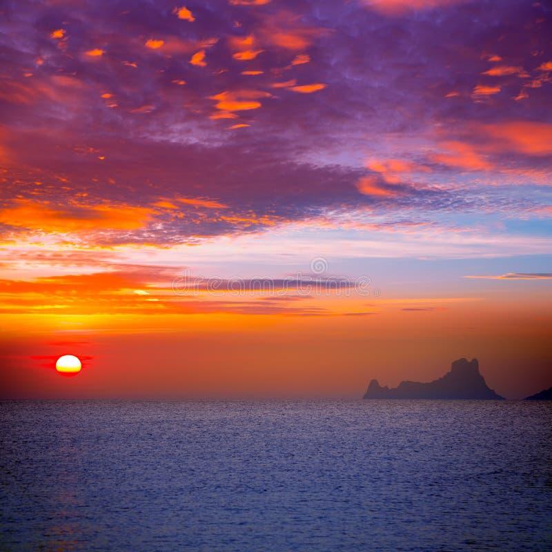 Free Ibiza Sunset View From Formentera Island Stock Photo - 35465540