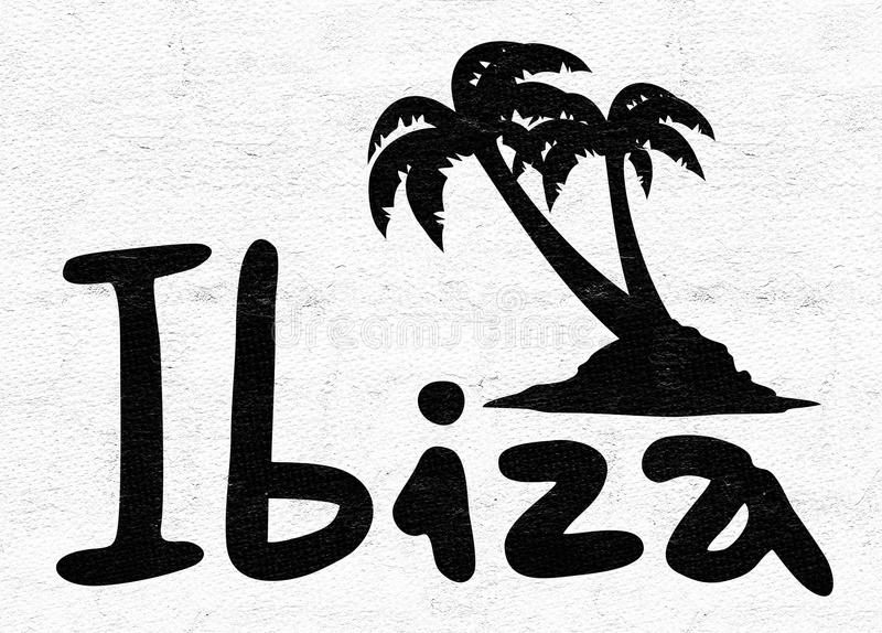Ibiza symbol vektor illustrationer