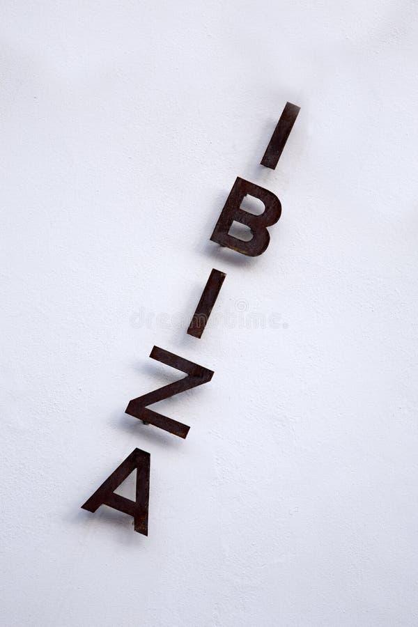 Ibiza tecken fotografering för bildbyråer