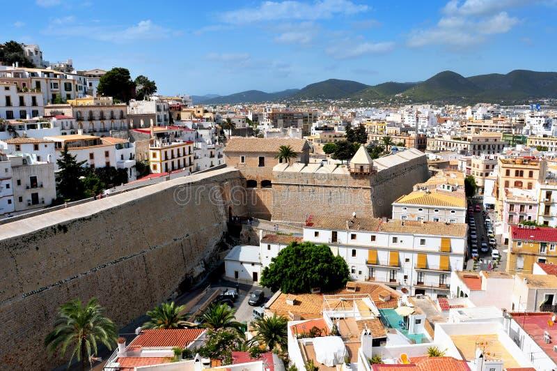 Ibiza town arkivfoton