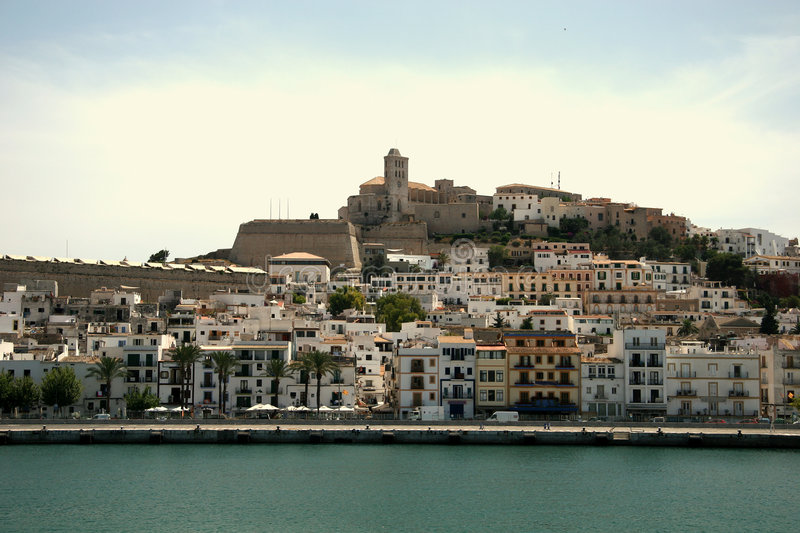 Download Ibiza Town stock image. Image of buildings, spain, town - 4255821
