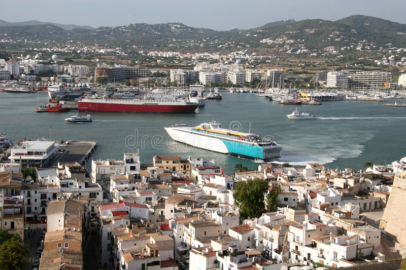 Download Ibiza Town stock image. Image of ocean, cruise, buildings - 866651