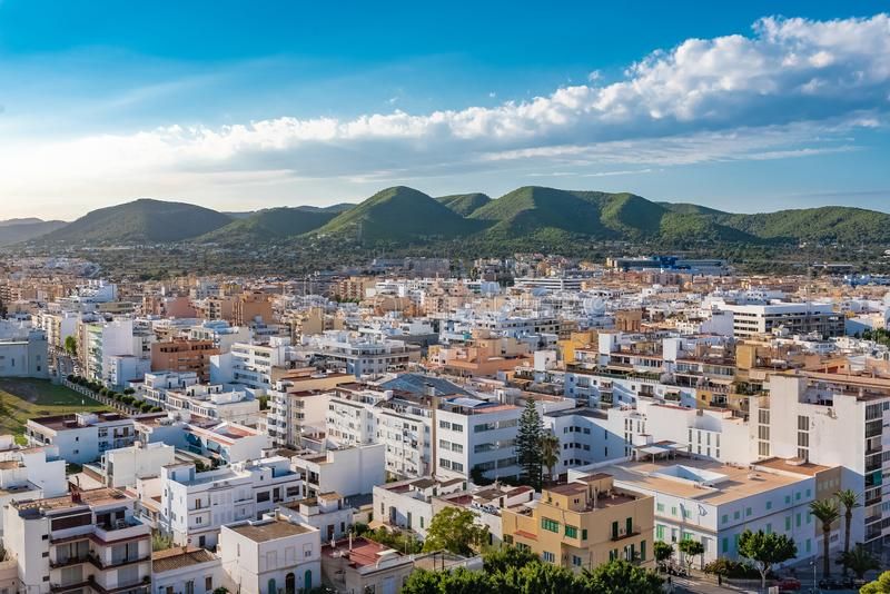 Ibiza, town. Ibiza, typical houses, modern architecture royalty free stock images
