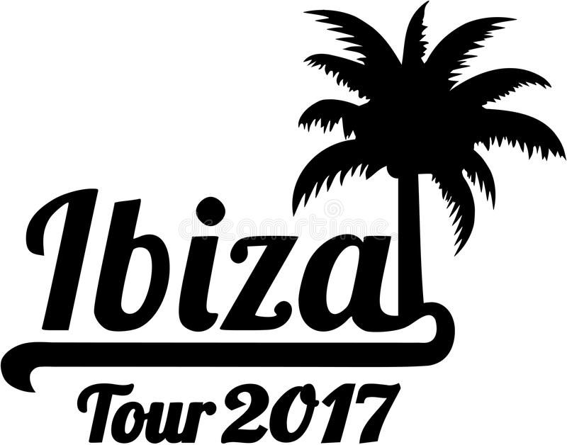 Ibiza turnerar 2017 stock illustrationer