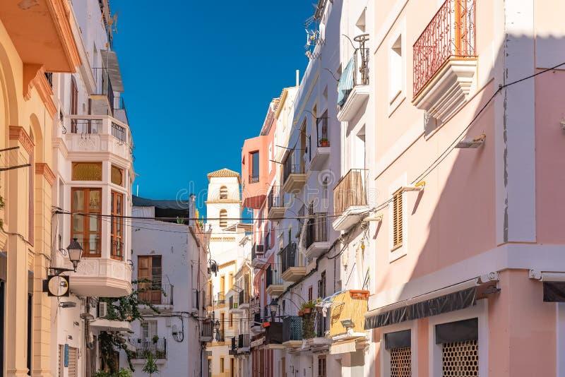 Ibiza, typowa ulica obraz stock