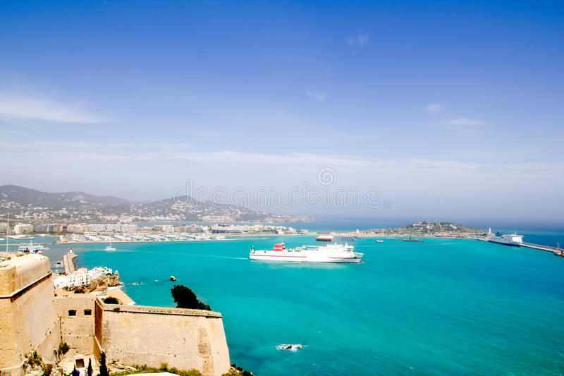 Download Ibiza View From Castle Ferry Boat Balearic Islands Royalty Free Stock Photos - Image: 20987448