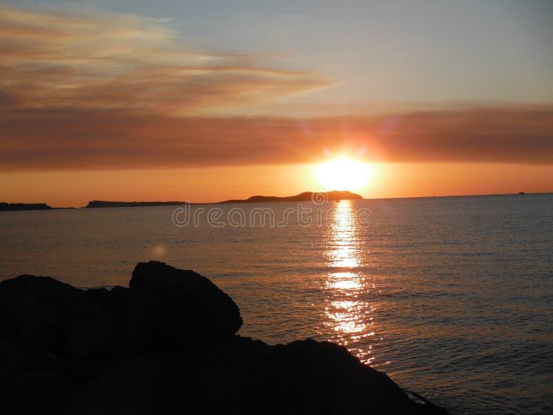 Ibiza zmierzch zdjęcie stock