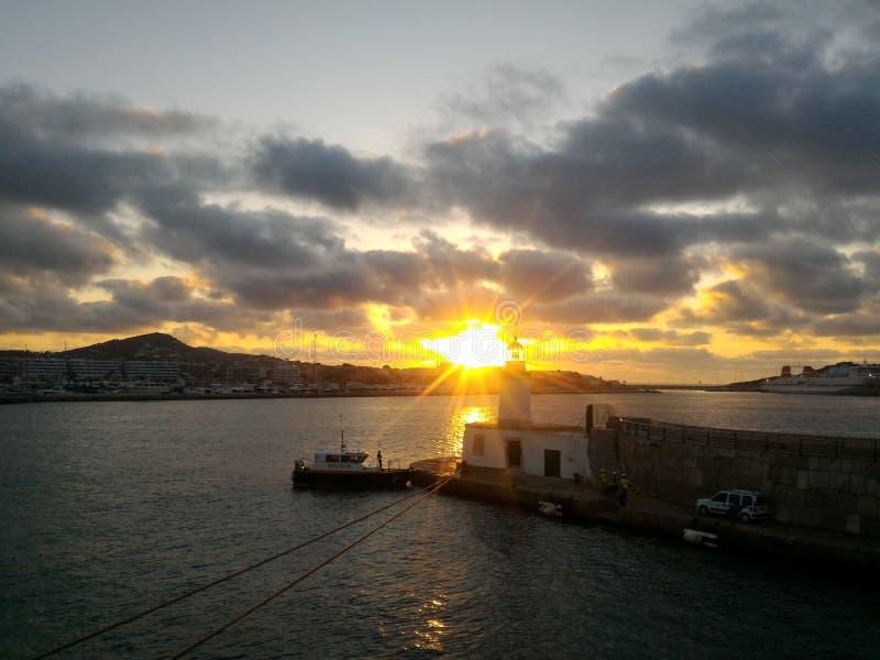 Ibizaportspain stock fotografie
