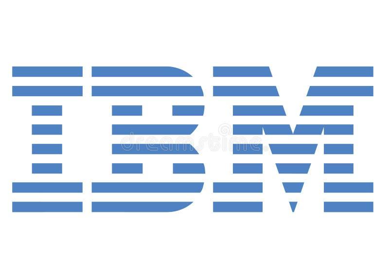 IBM-embleem stock illustratie
