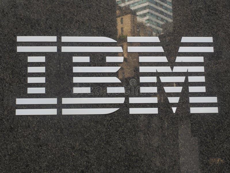 Ibm logo obraz royalty free