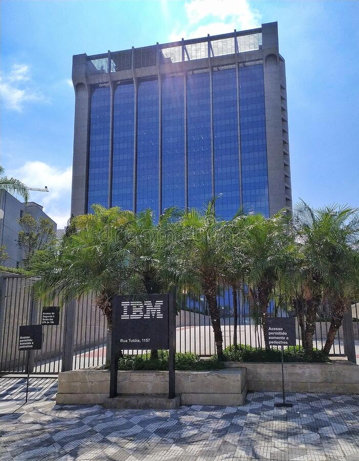 IBM office in Sao Paulo, Brazil. It stays on Tutoia street, in the surroundings of Ibirapuera Park stock photos