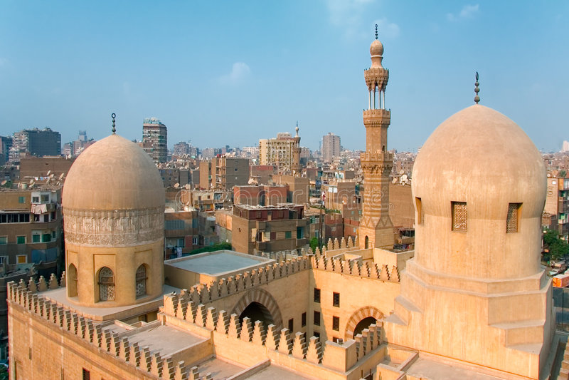 ibn μουσουλμανικό τέμενος tulun στοκ εικόνα