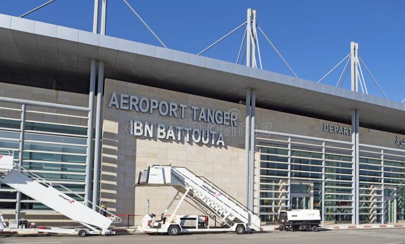 Ibn Battouta Airport in Tanger, Marokko royalty-vrije stock foto's