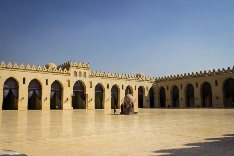 Ibn Toloun Dziejowy meczet w Kair zdjęcia stock
