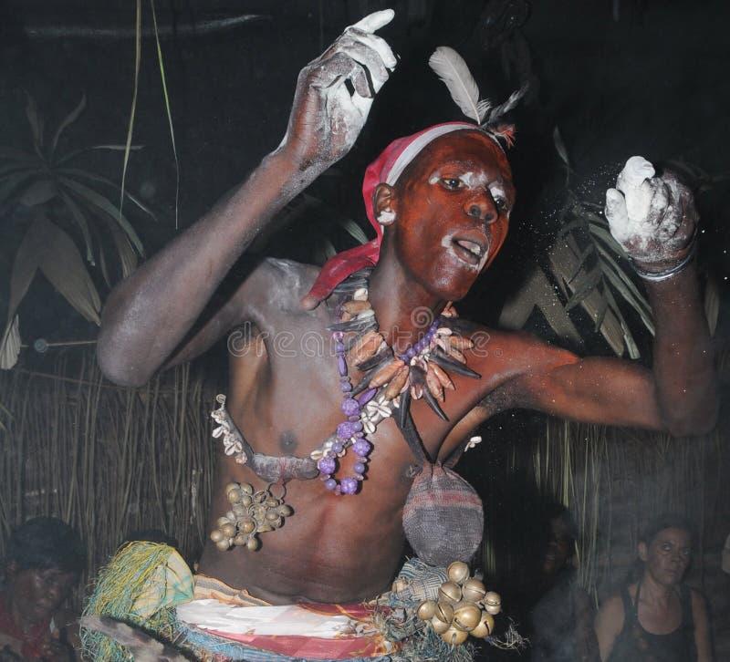 Iboga rytuał, Bwiti, Gabon fotografia royalty free