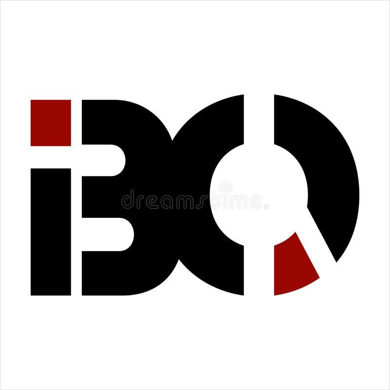 IBOS, BO, BIO- società della lettera di iniziali illustrazione di stock