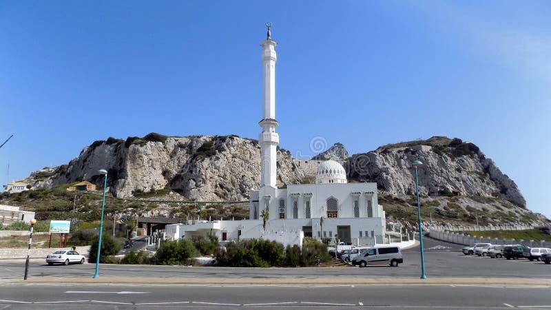 Ibrahim-al-Ibrahim Mezquita-Gibraltar imagenes de archivo
