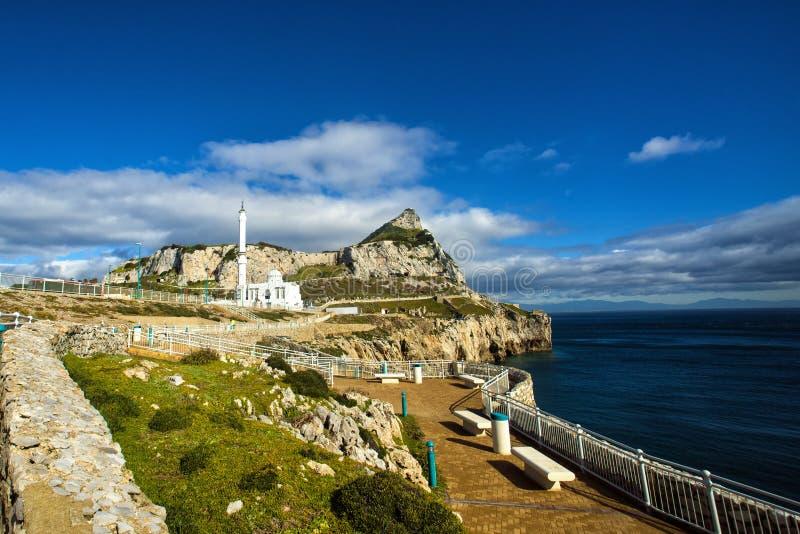 Ibrahim al Ibrahim Mosque in Gibraltar stock images