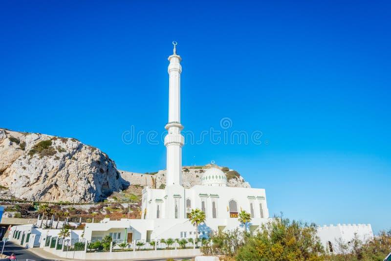 Ibrahim al Ibrahim-moskee, Gibraltar stock foto