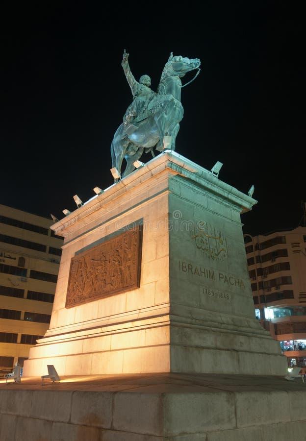 Ibrahim Pasha Statue, le Caire, Egypte photos libres de droits
