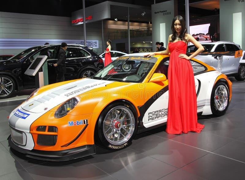 Ibrido della Porsche 911 GT3 R fotografia stock